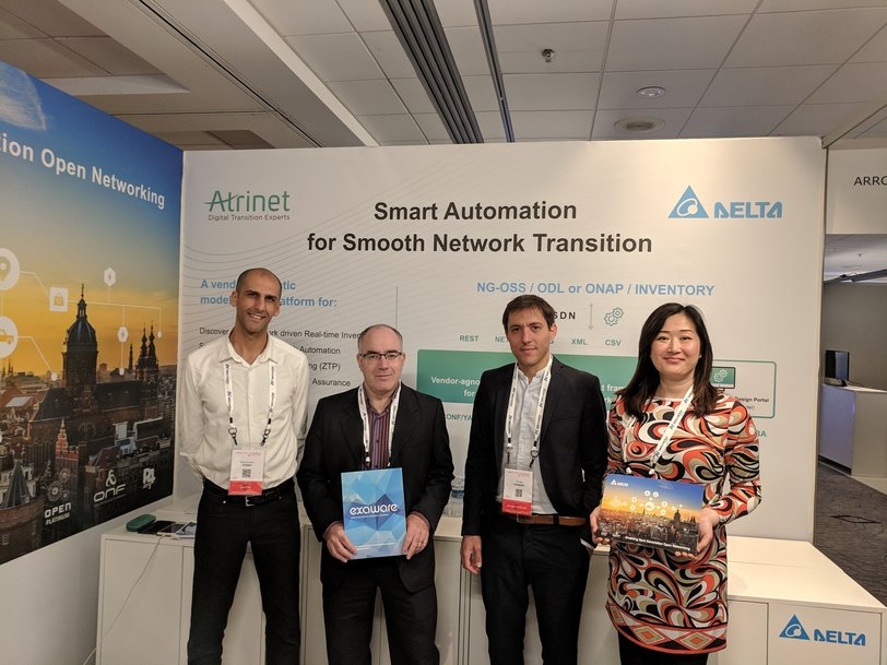 Delta, Exaware and Atrinet Showcase Disaggregated Solution for CSP at MPLS + SDN + NFV World Congress 2019