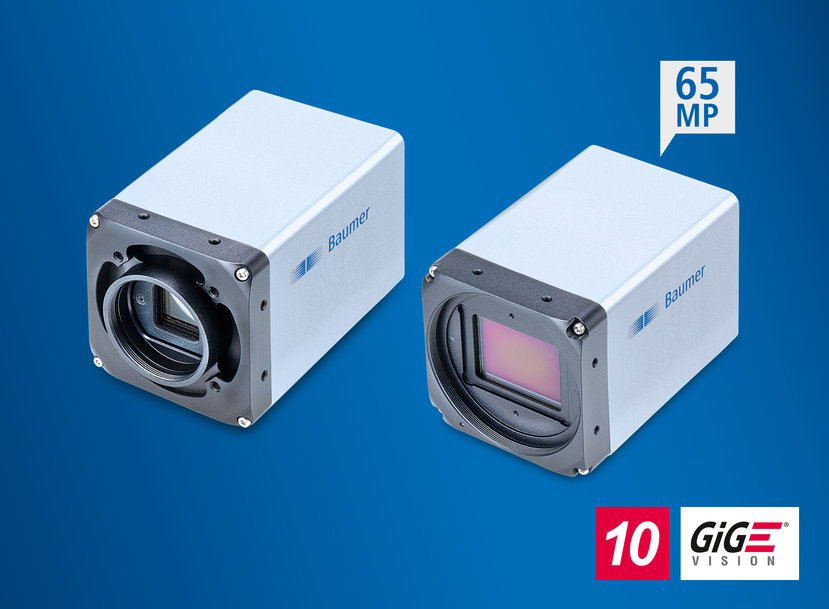 For the reliable detection of the minutest details: robust 10 GigE cameras with 24 MP Sony Pregius S and 65 MP Gpixel sensors